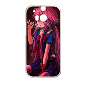 Generic for HTC One M8 Cell Phone Case White Mirai Nikki Custom HSKDKKALL4838