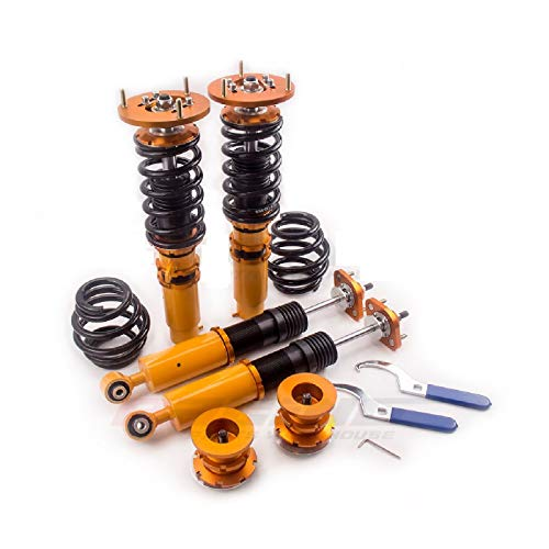 Coilover Suspensions Compatible w/BMW E46 3-Series Adj Camber Absorber Strut Shocks Quick Delivery