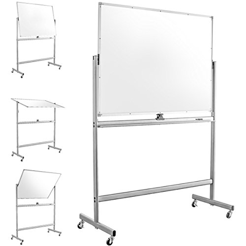 Mobile Dry Erase Magnetic Whiteboard--47''(W) x 36''(H) -- Double Sided with Easy Flip Feature by Superior Essentials