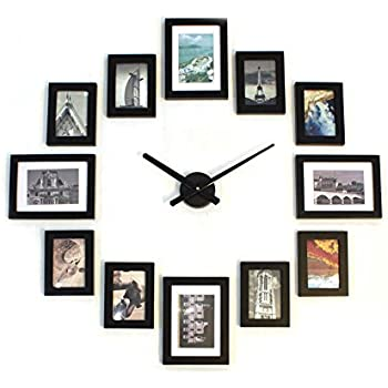 Amazon.com: Sentiment Photo Mute DIY Large Wall Clock 3D Sticker ...