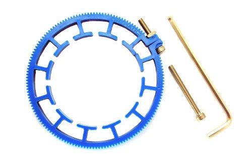 Cinematics Dslr Lens Gear Ring for Follow Focus Belt 80-90mm for Dslr Pro Mod 0.8 Blue CTX-8090BLUE