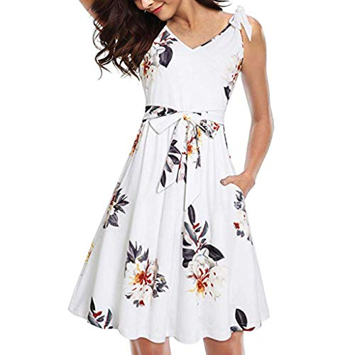 aihihe Women's Plus Size Short Sleeve Flowy A-Line Pocket Midi Maxi Dress (1X-4X) White -