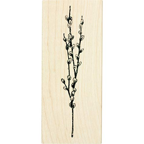 - Inkadinkado Pussy Willow Branch Mounted Rubber Stamp for Card Making and Scrapbooking, 2'' x 4.75'' x 1''