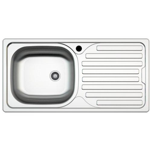 Edelstahl Einbauspüle I Küchenspüle / Spülbecken MIZZO Sino Basic 300 I Edelstahlspüle/ spüle 86 cm ...