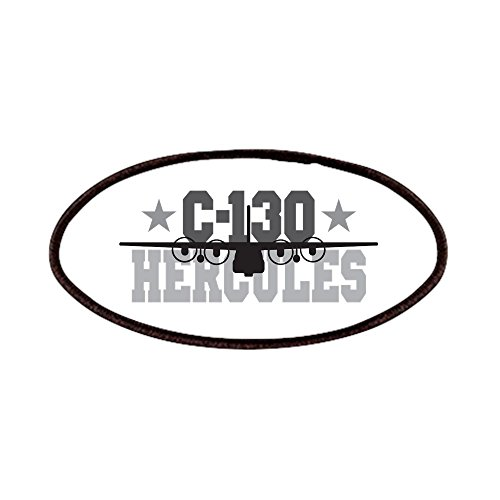 CafePress - C-130 Hercules Patches - Patch, 4x2in Printed Novelty Applique Patch - C 130 Patch