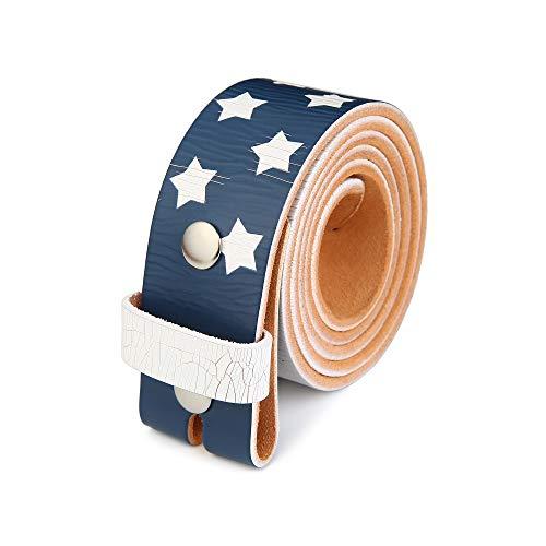 Gelante Genuine Full Grain Leather Belt Strap without Belt Buckle G2019-M Confederate Flag Belt Buckle