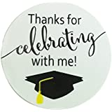 "Top label 2"" Graduation Stickers - Graduation Favor Stickers Graduation Labels - 100 Pieces/Roll"