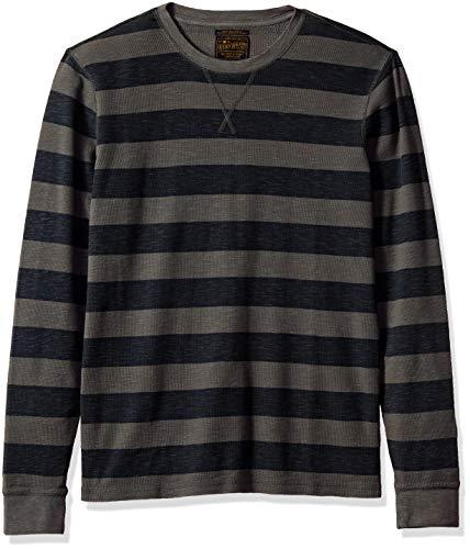 Lucky Brand Men's Long Sleeve Stripe Thermal Shirt, Multi, M