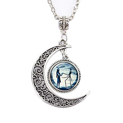 Necklace Pendant Gift, Jack and Sally Nightmare Before Christmas]()