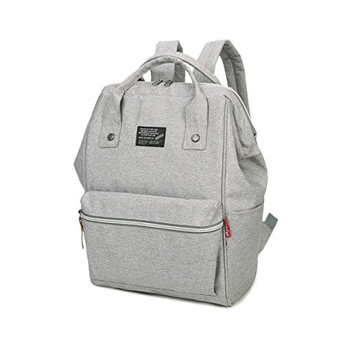 BigForest Multi-functional Baby Diaper Backpack Travel Bag, Nappy Tote Bag Mummy Nappy Changing Handbag White