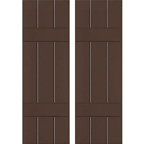 Ekena Millwork RWB12X064TBP Exterior Three Board