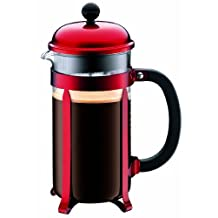 Bodum Chambord 8-Cup Coffee Maker, Red