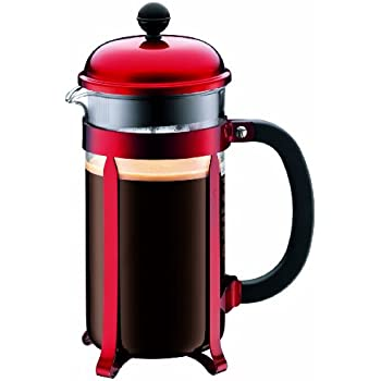 Amazon Com Bodum Red Chambord 8 Cup Coffee Maker French