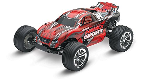 (Traxxas Nitro Sport: 2WD Stadium Truck with TQ 2.4 GHz Radio (1/10 Scale), Red)
