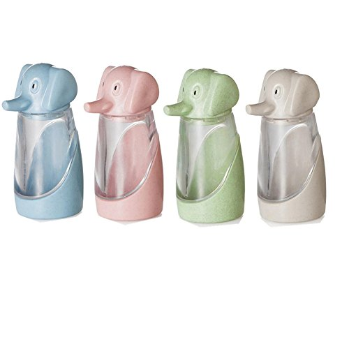 Windspeed Salt and Pepper Shaker Set, 4 Pack Creative Elephant Spices Storage Bottle/Seasoning Cans Pepper Seasoning Jars Kitchen Tool