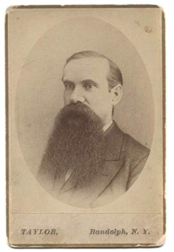 Antique Cabinet Card Photograph of Portrait of Named Bearded Man Randolph, NY ()