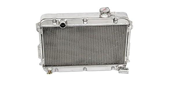 for DATSUN 1200 B110 A12//T 1970-1976 3 row aluminum radiator /& fan /& hose BLACK