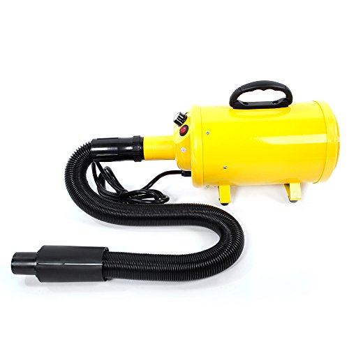 (Lykos 2800W Portable Dog Cat Pet Groomming Blow Hair Dryer Quick Draw Hairdryer US Standard (Yellow))