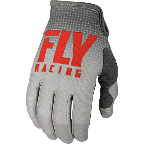 Youth Lite Racing Glove - Fly Racing 2019 Youth Lite Gloves (SMALL) (RED/GREY)