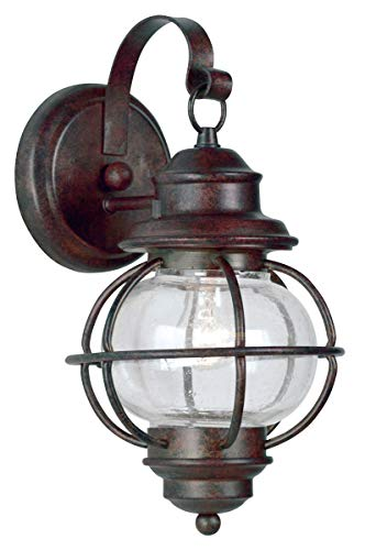 Kenroy Home 90961GC Hatteras Small Wall Lantern, Blackened Gilded Copper Finish ()