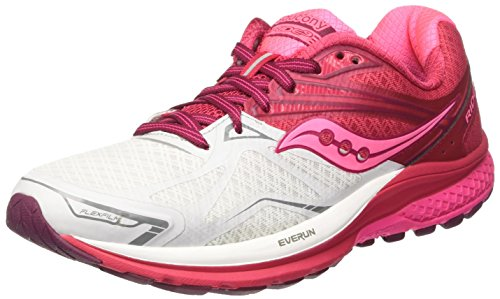 Saucony Running Scarpe 9 Ride Bianco Pink Donna White Berry xrAOxqStw