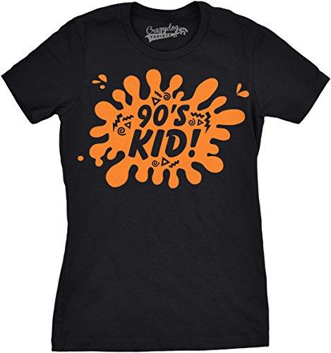 Crazy Dog TShirts - Womens 90s Kid Tshirt Awesome Nineties Vintage Retro Decade Tee For Ladies - Camiseta Para Mujer