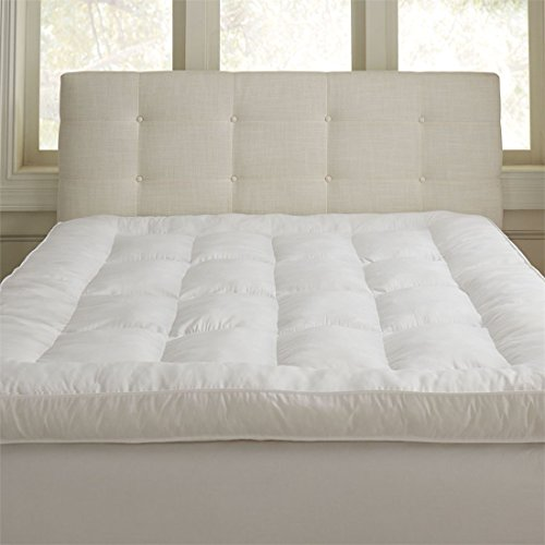 Brylanehome The Unfeather Bed Mattress Topper (White,King) (200tc Mattress Pad)