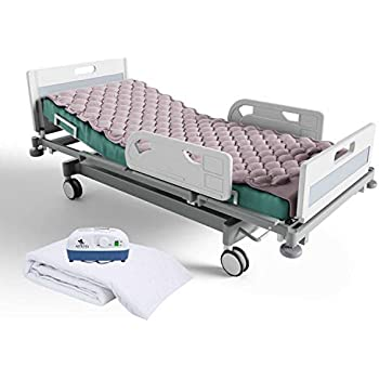 Alternating Pressure Mattress Include Electric Air Pump and Inflatable Mattress Pads with Bed Cover - Prevent Pressure Ulcer - Sore Treatment - Colchon ...