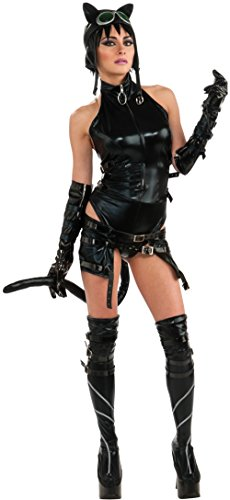 Secret Wishes Womens DC Comics Ame-comi Heroine Series Catwoman Costume, Black, X-Small]()