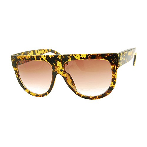 ROXX- Oversized Stylish Womens Mens Tortoise Celebrity Flat Top - Celebrity Hot Sunglasses