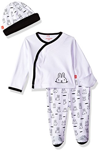 Magnificent Baby Baby Girls Infant Magnetic Kimono Pant and Hat Set