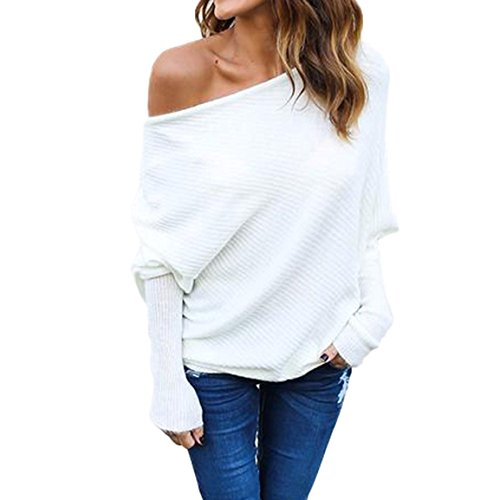 YOUR GALLERY Women's Off Shoulder Dolman Sleeve Hide and ...
