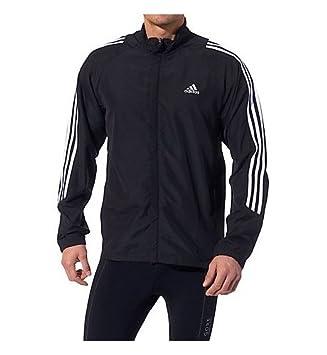 Adidas Chaqueta de running RSP DS, otoño/invierno, hombre, color blanco/negro, tamaño large: Amazon.es: Deportes y aire libre