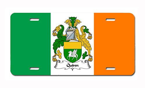 (Carpe Diem Designs Quinn Coat of Arms/Quinn Family Crest (Ireland) License/Vanity Plate - Made in The U.S.A.)
