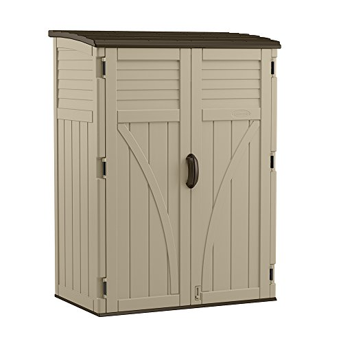 Suncast (BMS5700) Vertical Shed 54 cu. ft., Sand (Shed Wood Storage Resin)