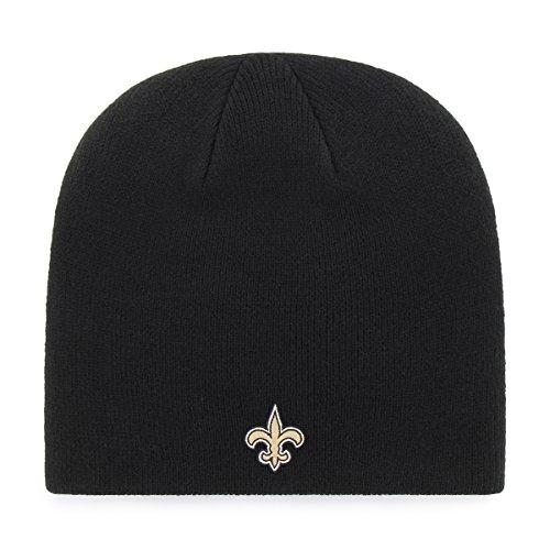 OTS NFL New Orleans Saints Beanie Knit Cap, Black, One Size