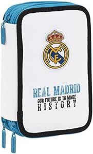 Real Madrid - Plumier Triple 41 Piezas (SAFTA 411754057): Amazon.es: Juguetes y juegos