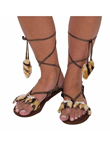 Forum Novelties Women's Stone Age Costume Sandals, Brown, One Size]()