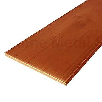 "C110 1 Bar 1//2/"" Copper Flat Bar Stock 1/"" x 6/"""