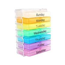 7 Days Weekly Dispenser Am Pm Storage Pill Box Container Tablet Sorter Medicine Case Organizer
