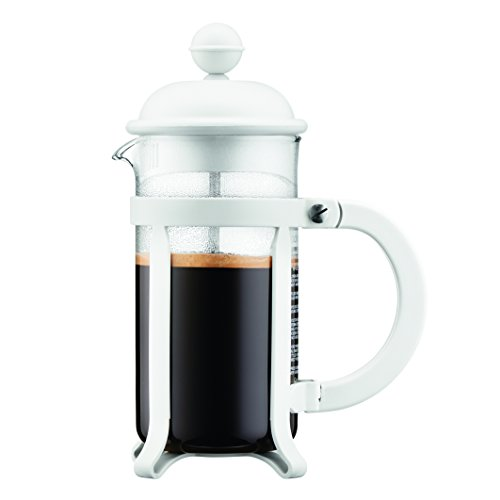 Bodum 1903-913 3 cup Java French Press Coffee Maker, 12 oz, White Bodum 3 Cup Coffee