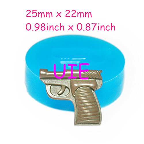 195LBF Handgun Pistol Mold Gun Mold Handgun Molds Pistol Mould for Chocolate Candy Cookie 25mm - Sugarcraft Fake Food Mould