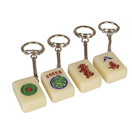 Yellow Mountain Imports Mahjong (Mah Jong, Mahjongg, Mah-Jongg, Mah Jongg, Majiang) Tile Keychains, Set of (Classic Army Silencer)