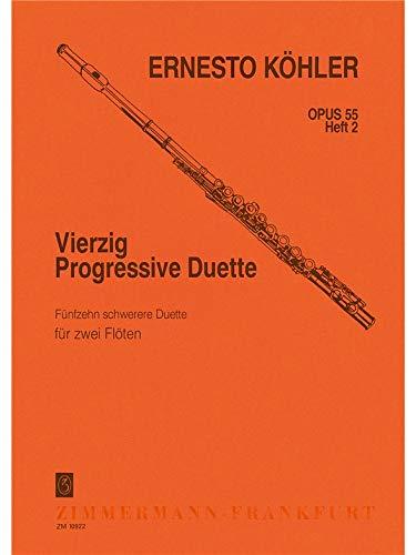 40 Duos Progr. Op.55 Volume 2Volume 2 2 Fl - Flûte (Allemand) Partition – 1 janvier 2009 Koehler Zimmermann B00006M0H5 Musik / Sonstiges
