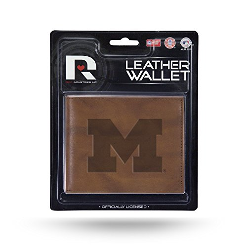 NCAA Michigan Wolverines Embossed Leather Billfold Wallet with Man Made Interior