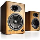 Audioengine A5+ Premium Powered Speaker Pair (Carbonized Solid Bamboo)