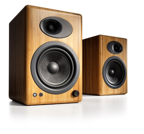Audioengine A5+ Premium Powered Speaker Pair (Carbonized Solid Bamboo) by Audioengine