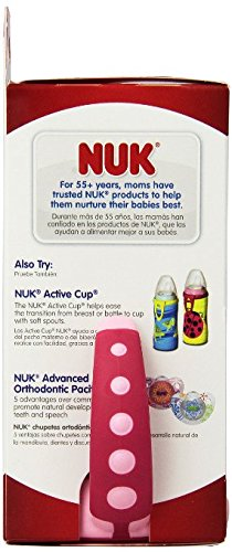 NUK Learner Sippy Cup, Girl, 5 Ounce (Pack of 1)