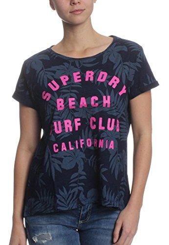 Superdry - Camiseta - para mujer Aop Classic Indigo