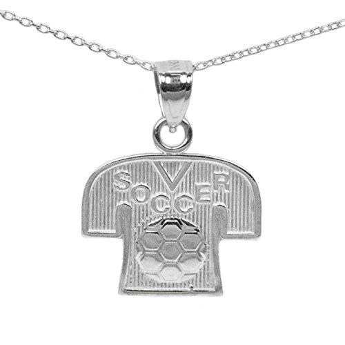 925 Sterling Silver Soccer Pendant (16